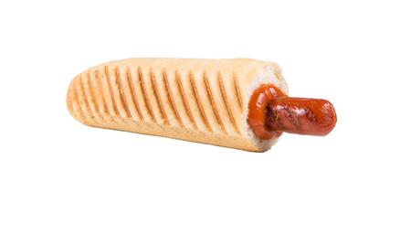 Französisch Hot Dog isoliert o? ein weißer Hintergrund Standard-Bild - 83145549