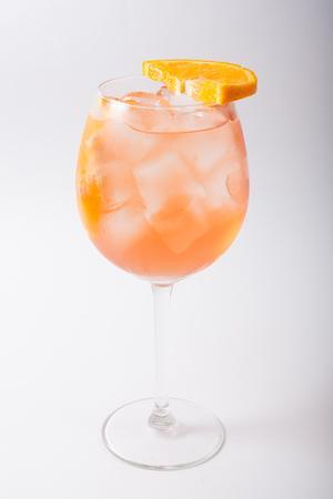Alcohol cocktail glass on a white. Reklamní fotografie