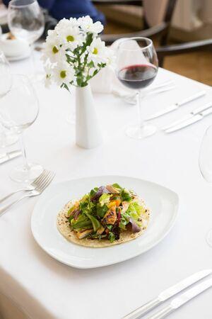 Mexican food tortilla wrap Stock Photo