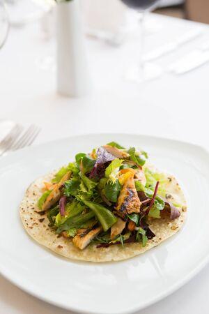 Mexican food tortilla wrap