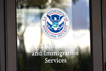 U.S. Citizenship and Immigration Services USCIS field office in San Francisco Bay Area. USCIS is an agency of the U.S. Department of Homeland Security DHS - Santa Clara, California, USA - 2019
