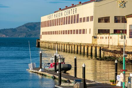 View of Fort Mason Center for Arts and Culture located at San Francisco Bay waterfront - San Francisco, California, USA - 2020 Publikacyjne