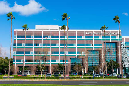 Tata Consultancy Services office exterior in Silicon Valley. TCS is an Indian multinational IT service and consulting company part of the Tata Group - Santa Clara, California, USA - 2020