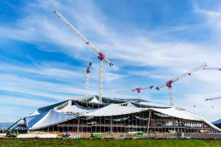 New high-technology Google Bay View campus construction at NASA Ames Research Center - Mountain View, California, USA - January, 2020