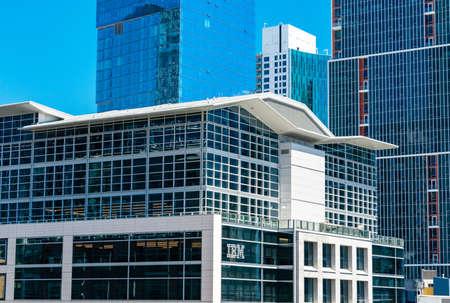 IBM sign and logo on facade of IBM Watson office building - San Francisco, California, USA - July 12, 2019 Editorial