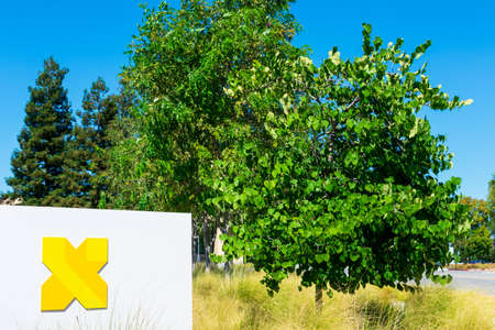 X Development sign and logo, formerly Google X, a research and development facility by Google and a subsidiary of Alphabet - Mountain View, California, USA - 2020