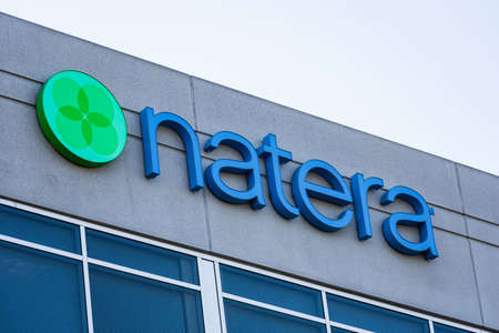 Natera sign at is a genetic testing company headquarters in Silicon Valley, high-tech hub of San Francisco Bay Area - San Carlos, CA, USA - 2019