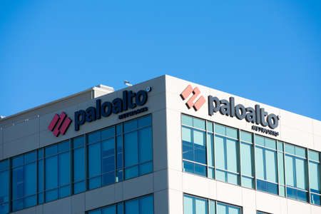Palo Alto Networks headquarters campus exterior of cybersecurity company under blue sky - Santa Clara, CA, USA - 2020