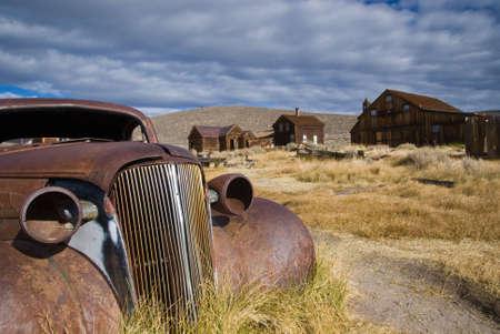 bodie: Old car in Bodie, California, USA