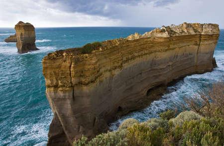 Twelve Apostles national park in Australia, ocean storm photo