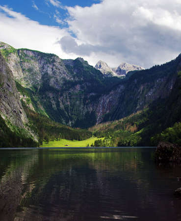 Panoramic view of Obersee lake, Germany Stock Photo - 9919559