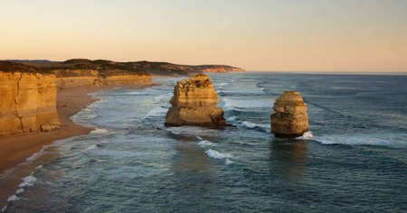 Panoramic view of Gibson Steps, Great Ocean Road, Australia photo