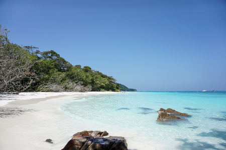 The white sand beach of Koh Tachai island is the best in world, Thailand
