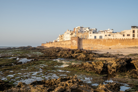 The small fisher town Essaouira in Morocco at sunset