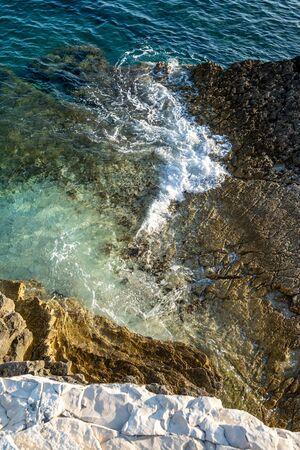 A view of the ocean coastline of Premantura Kamenjak in Croatia Reklamní fotografie