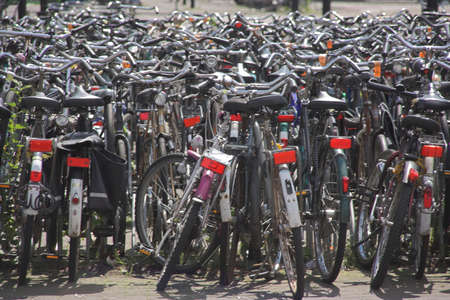 reflectors: Bicycles, bicycles, bicycles. Oh, and more bicycles Stock Photo