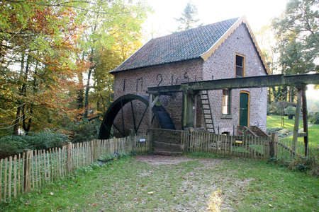 watermill: A watermill in the forest Stock Photo