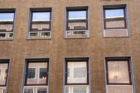 neighbouring: One flat reflecting in a neighbouring flats windows