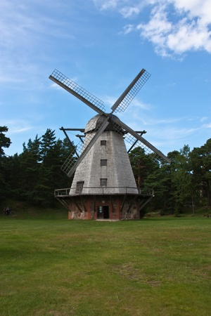 Windmill in Ventspils  Stock Photo