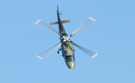 An Agusta helicopter in a dutch airshow