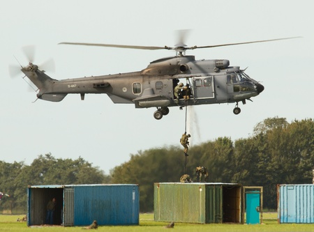 A Cougar helicopter on a dutch airshow