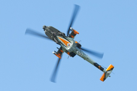 An Apache performing an airshow Editorial