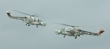 airpower: Two lynx helicopters in an airshow