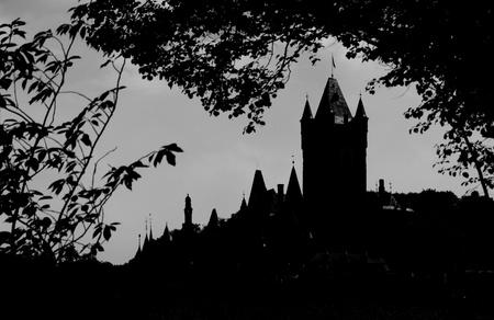 A castle in the dark  photo