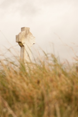 tomb empty: A gravestone on a Irish graveyard Stock Photo