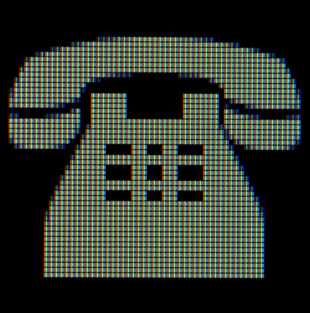 Close-up of a telephone symbol on a computer screen Stock Photo - 12699144