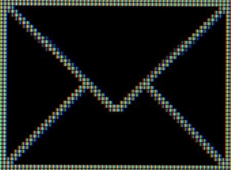envelop: Close-up of a envelop symbol on a computer screen