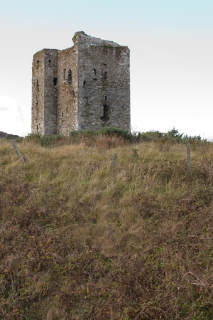 An old ruin in the Irish landscape photo