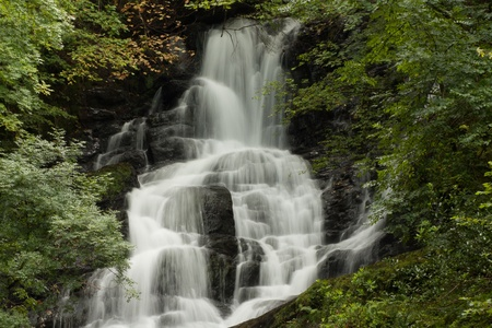 A waterfall in the central region of Ireland