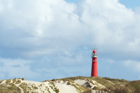 The old lighthouse on the dutch isle Schiermonnikoog Stock Photo - 13348192