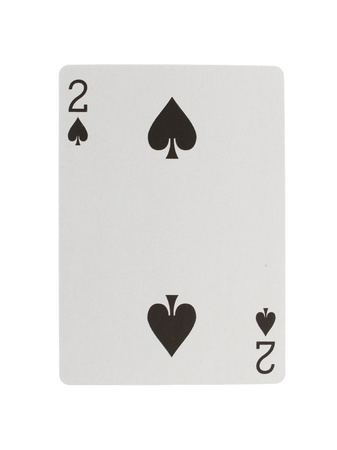 ace of hearts: Playing card (two) isolated on a white background