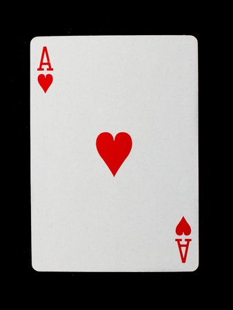Playing card (ace) isolated on a white background photo