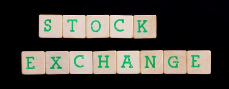Letters on wooden blocks (stock, exchange) Stock Photo - 13661049