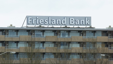 to incorporate: LEEUWARDEN, FRIESLAND,HOLLAND-MAI 7: The local Friesland Bank ceased to excist when it is being incorporated by the larger international operating Rabobank on Mai 7, 2012 at Leeuwarden,Friesland,Holland