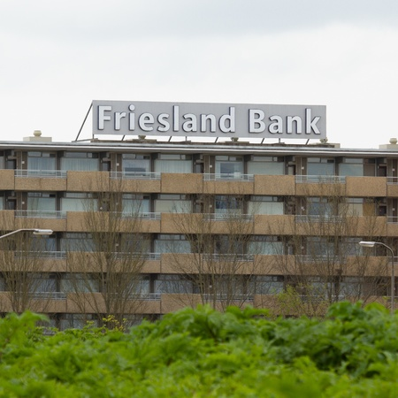 ceased: LEEUWARDEN, FRIESLAND,HOLLAND-MAI 7: The local Friesland Bank ceased to excist when it is being incorporated by the larger international operating Rabobank on Mai 7, 2012 at Leeuwarden,Friesland,Holland