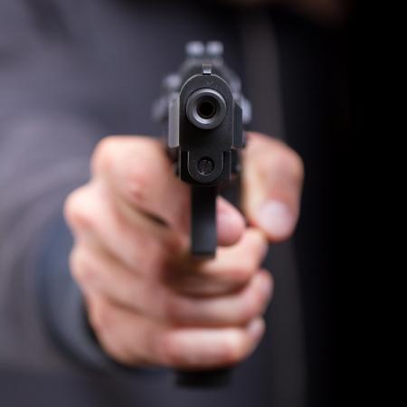 pistola: El hombre con la pistola, g�ngster, se centran en la pistola