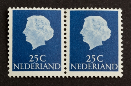 postmail: HOLLAND - CIRCA 1970: Stamp printed in the Netherlands shows the head of state, circa 1970 Editorial