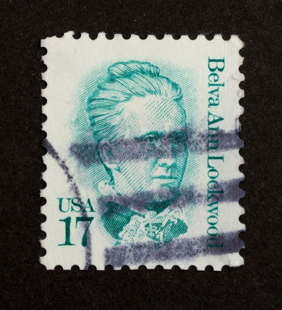 USA - CIRCA 1975: Stamp printed in the USA shows Belva Ann Lockwood, circa 1975