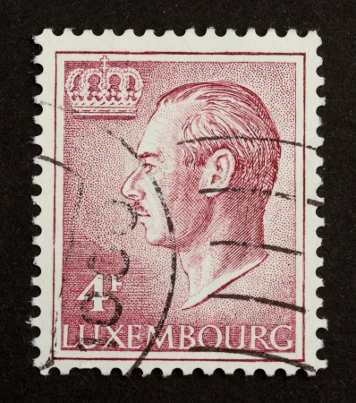 LUXEMBOURG - CIRCA 1970: Stamp printed in Luxembourg shows a kings crown, circa 1970