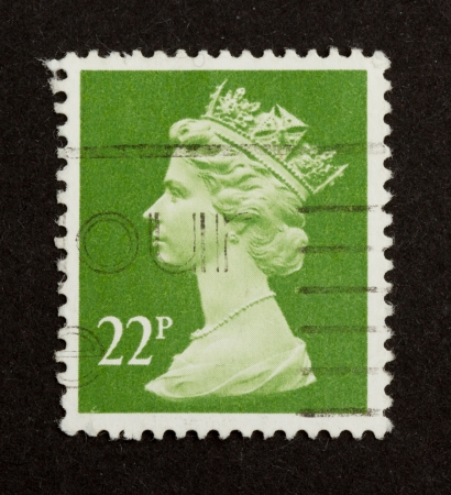 UNITED KINGDOM - CIRCA 1970: Stamp printed in the UK shows the head of state (Queen Elizabeth), circa 1970 Stock Photo - 13893887