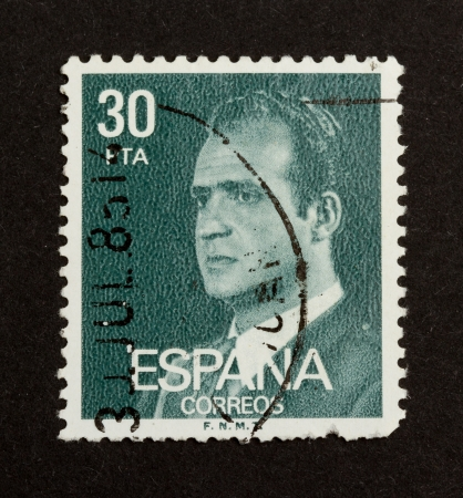 SPAIN - CIRCA 1980: Stamp printed in the Spain shows the head of state, circa 1980