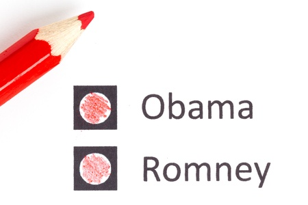Red pencil choosing the next president (election 2012)