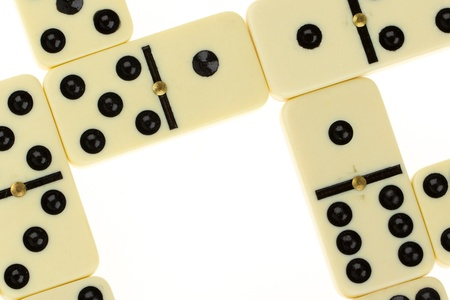 Close up of domino on a white background photo