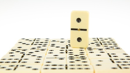 regimented: Dominos texture, isolated on a white background