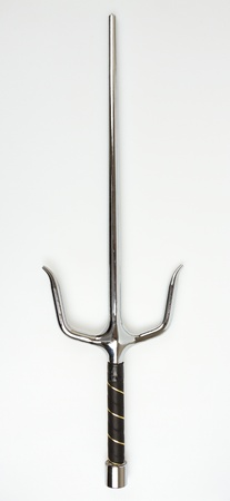 Sai weapon isolated on a white background photo