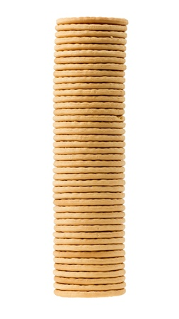 Close up delicious dutch biscuits - isolated on white background Stock Photo - 14429988